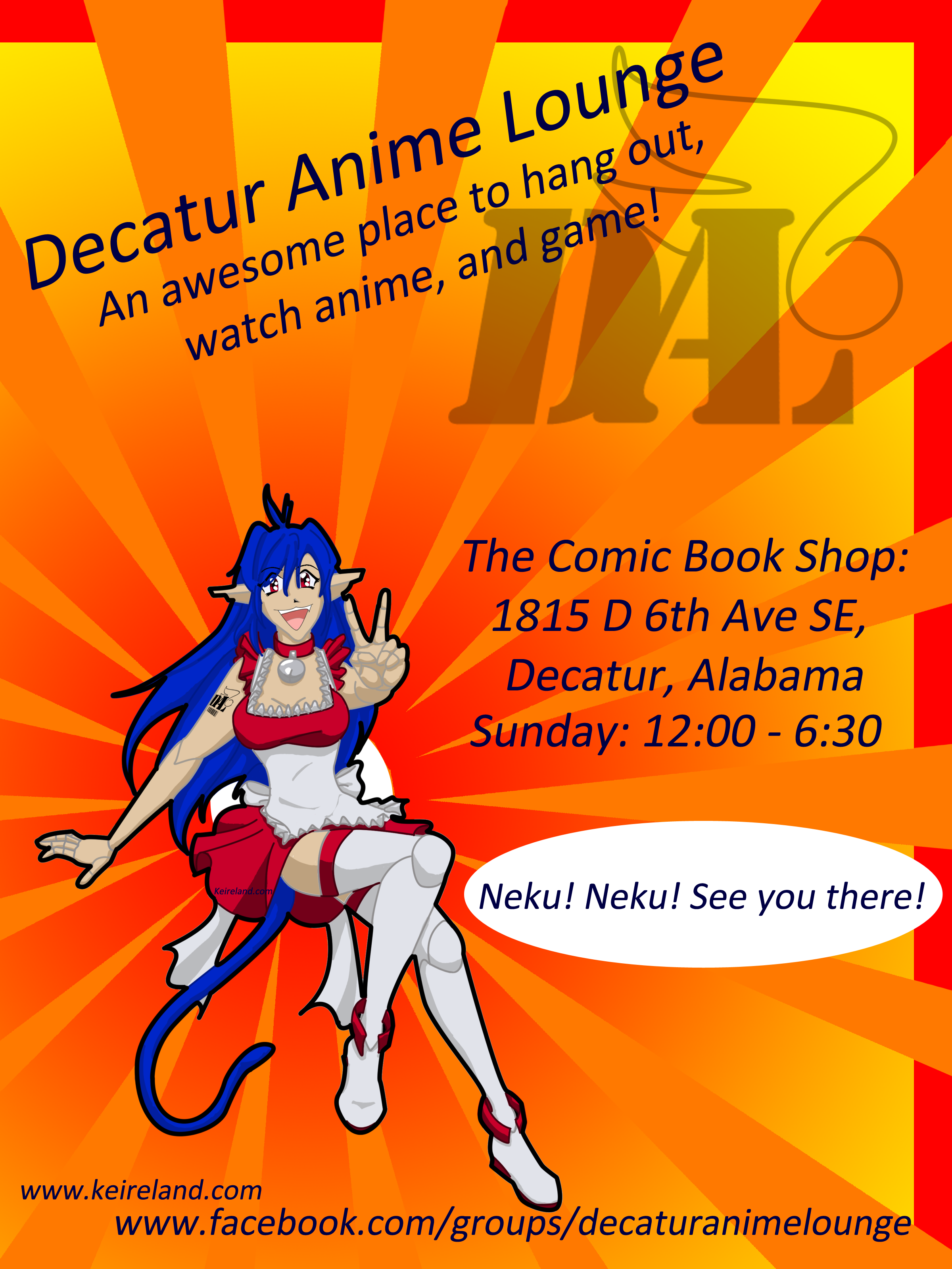 decatur anime lounge flyer color